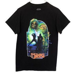 Star Wars Return Of The Jedi Rare Graphic T-Shirt 100% Cotton Black Size Medium